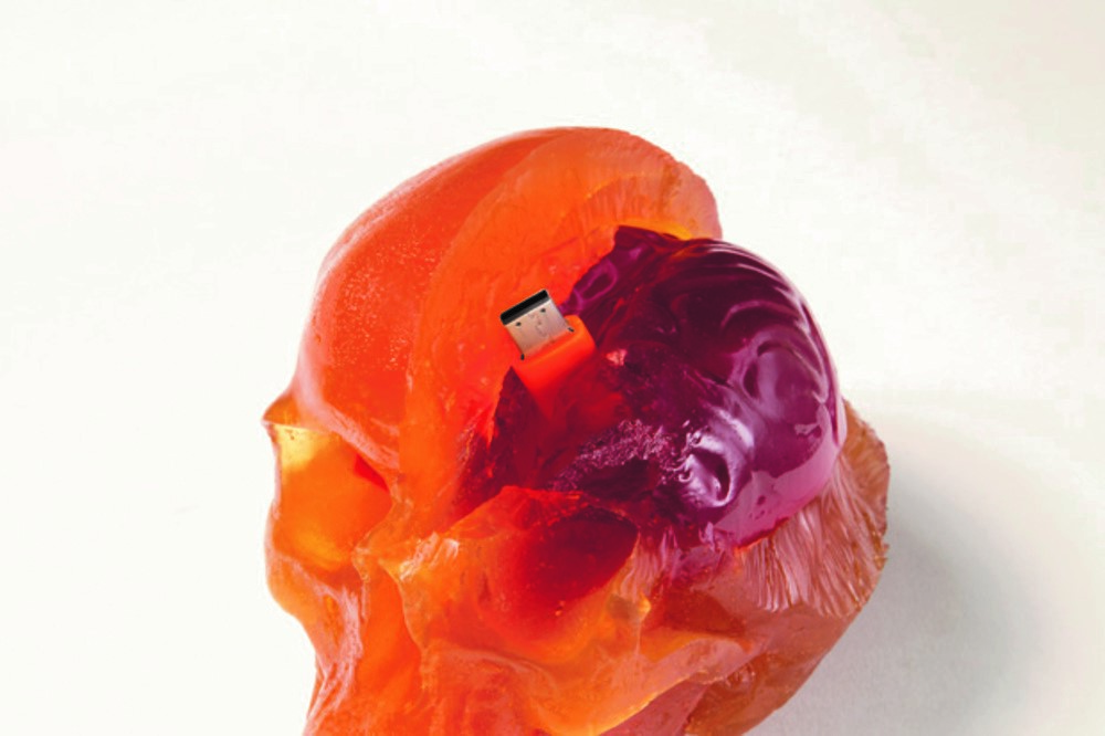 A gummy skull containing a USB with songs by the Flaming Lips