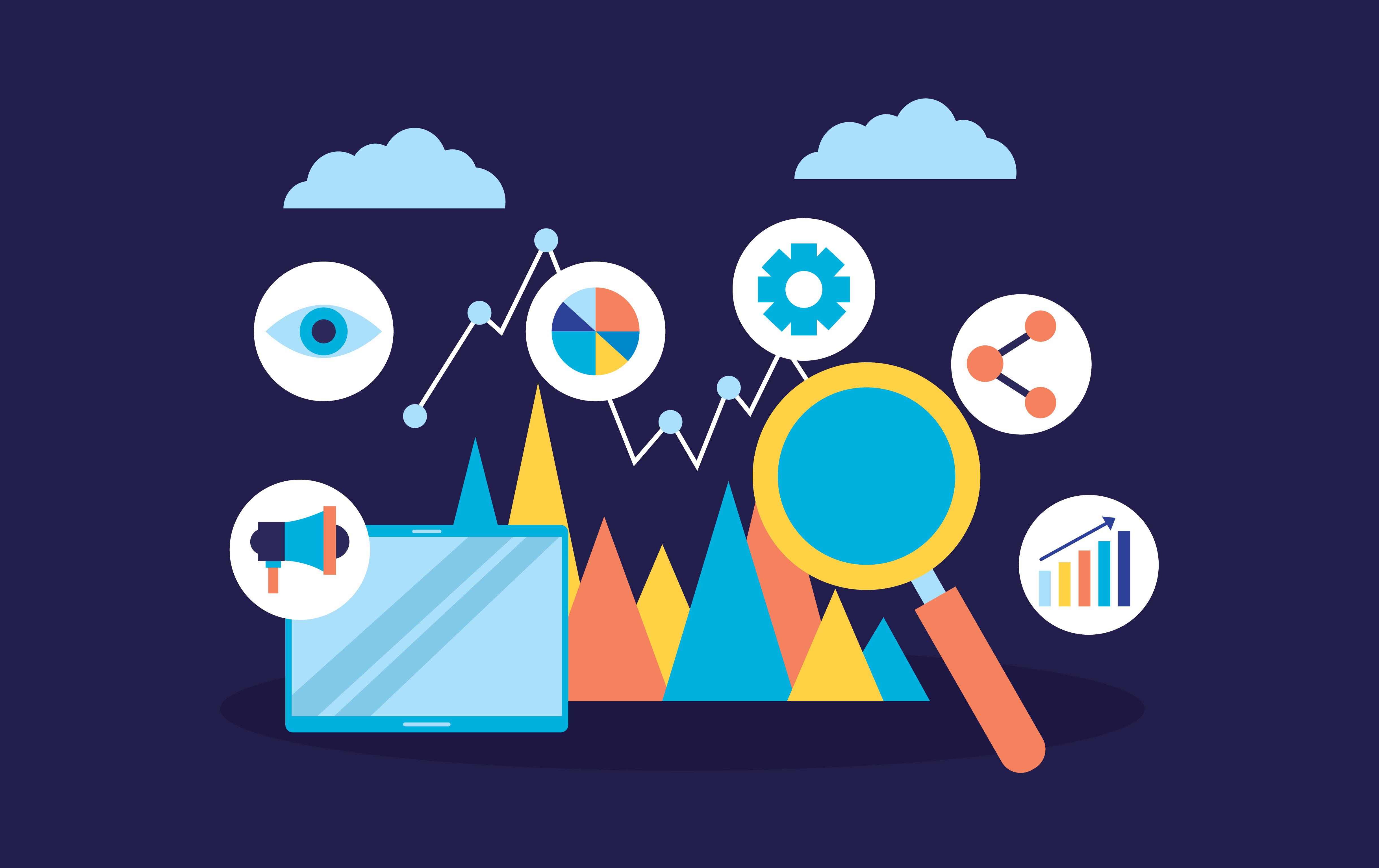 Search engine marketing illustration