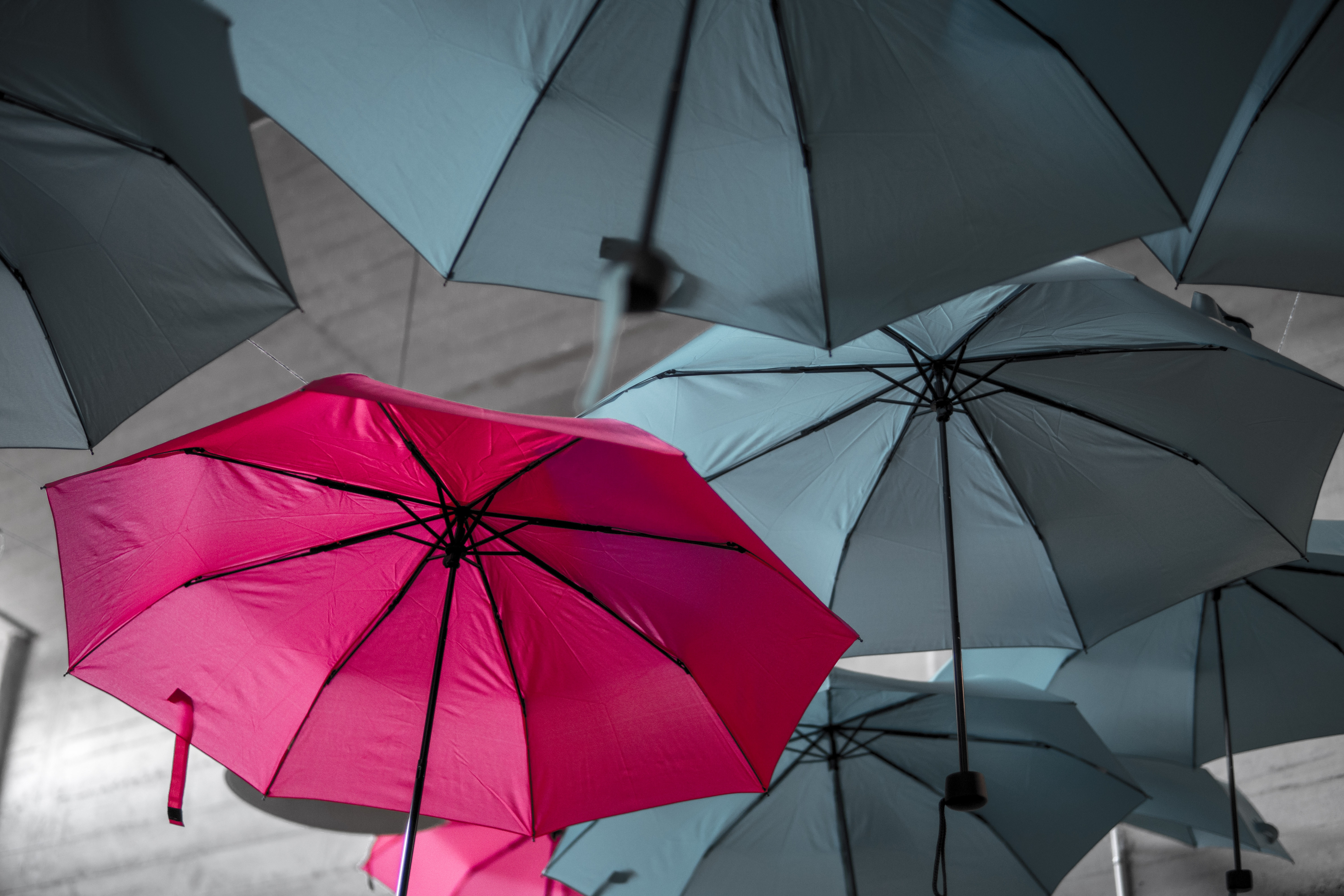 Content Personalization represented by different coloured umbrellas - Flywheel Strategic