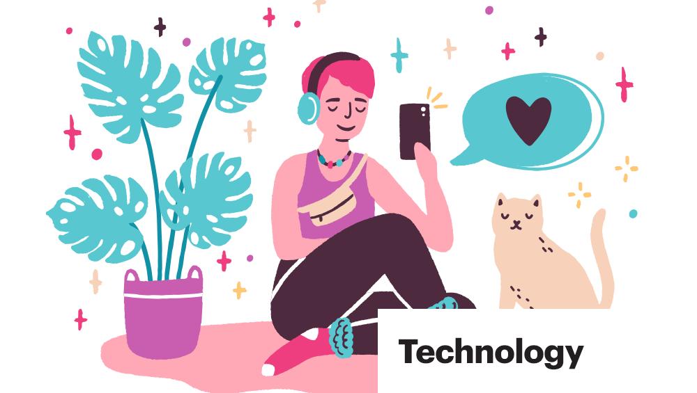 trendy technology image