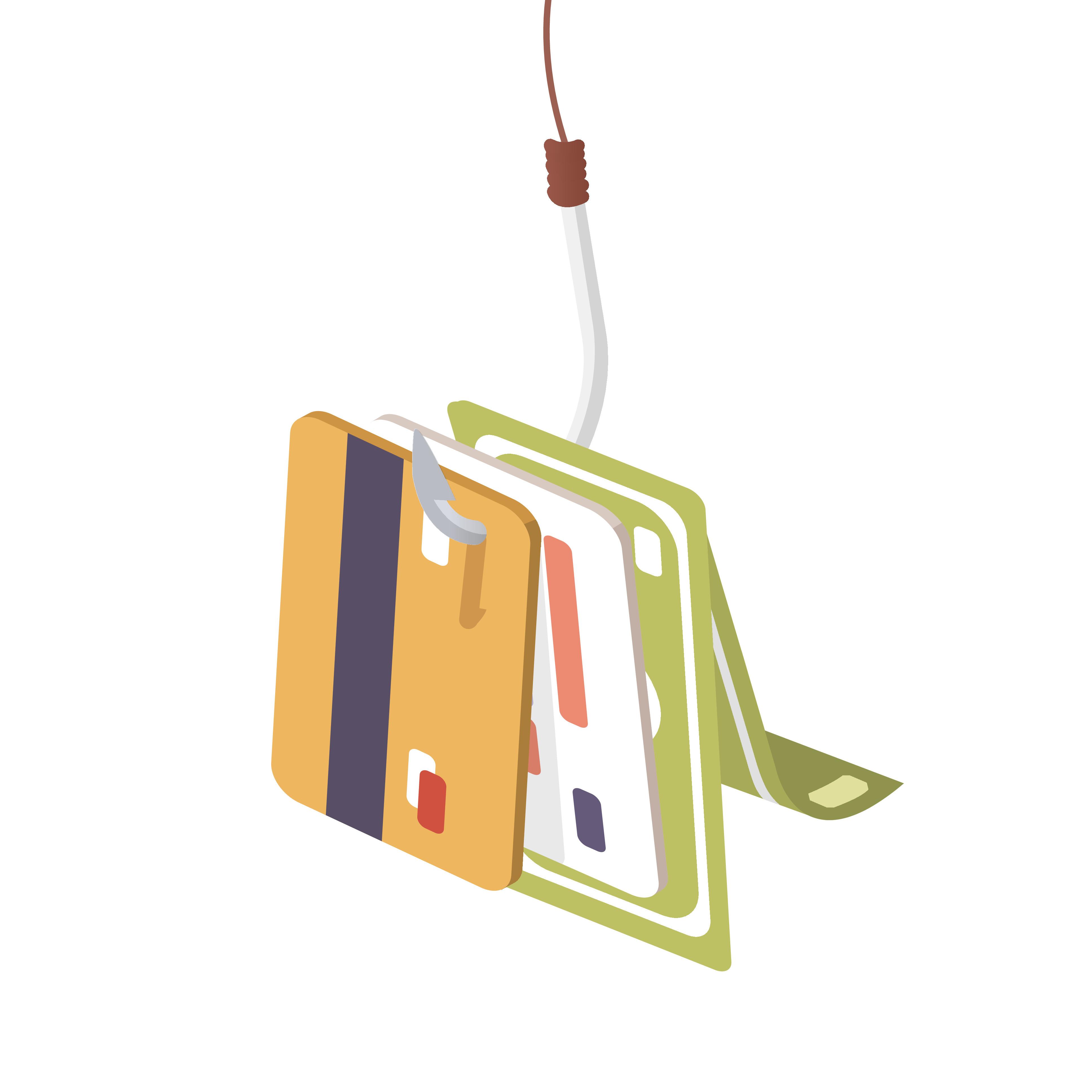 Phishing flyweel blog stock image
